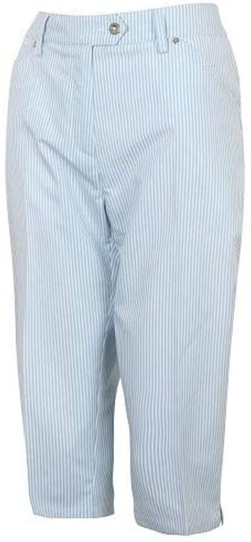 Island Green Womens Striped Capri Golf Trousers