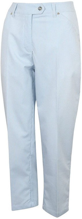 Island Green Womens Mid Length Striped Durable Stylish Golf Trousers