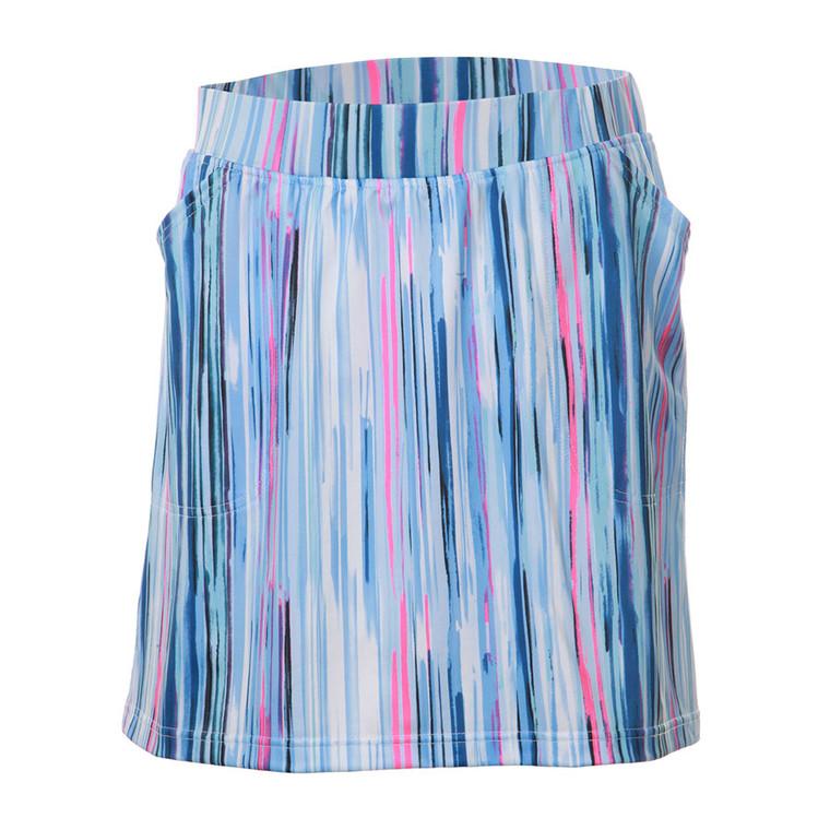 JRB Ladies Blue Stripe Skort