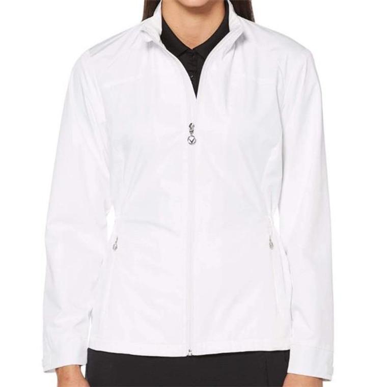 Callaway Ladies Full Zip Windwear Jacket White