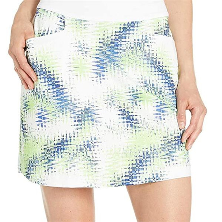 Callaway Ladies Jersey Stretch Skort in Digitised Starburst Print with UPF50 Protection
