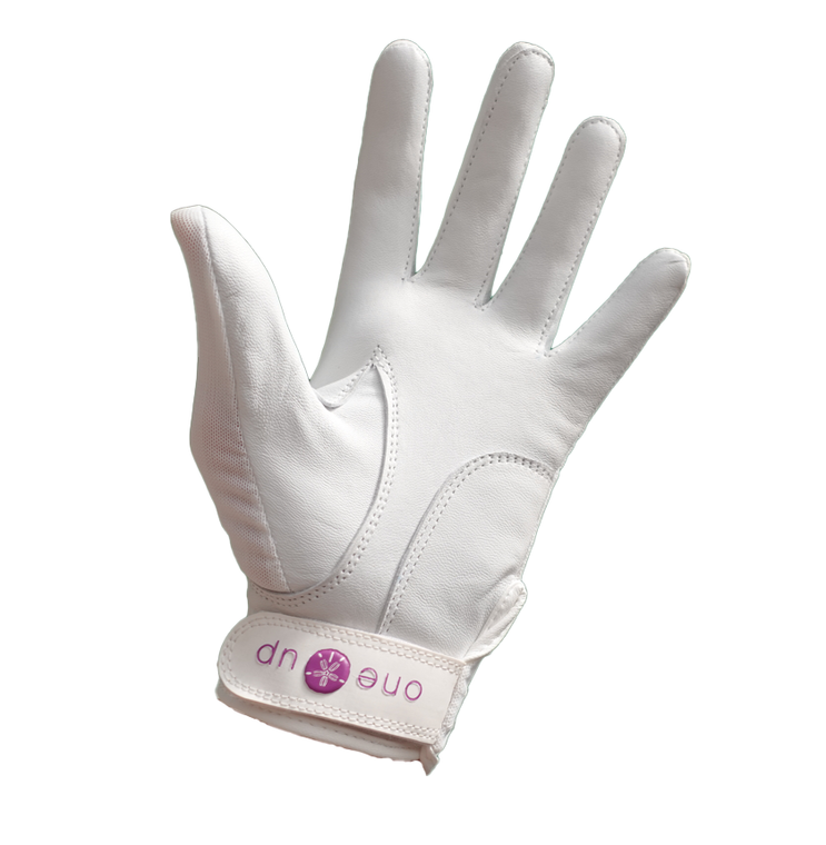 One Up Golf 2021 Ladies Tan Fit Golf Glove With Free Tri-Fold Towel