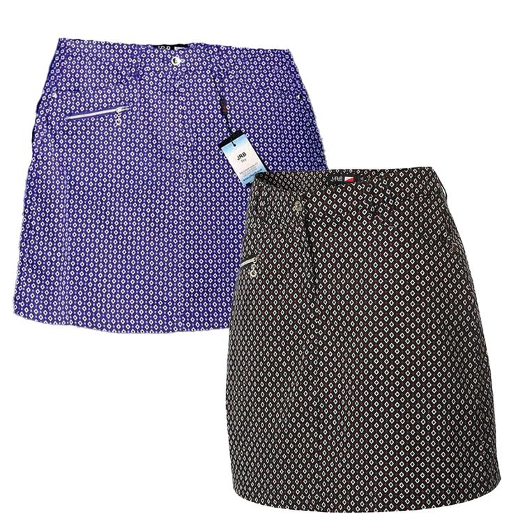 JRB Diamond Check Golf Skorts