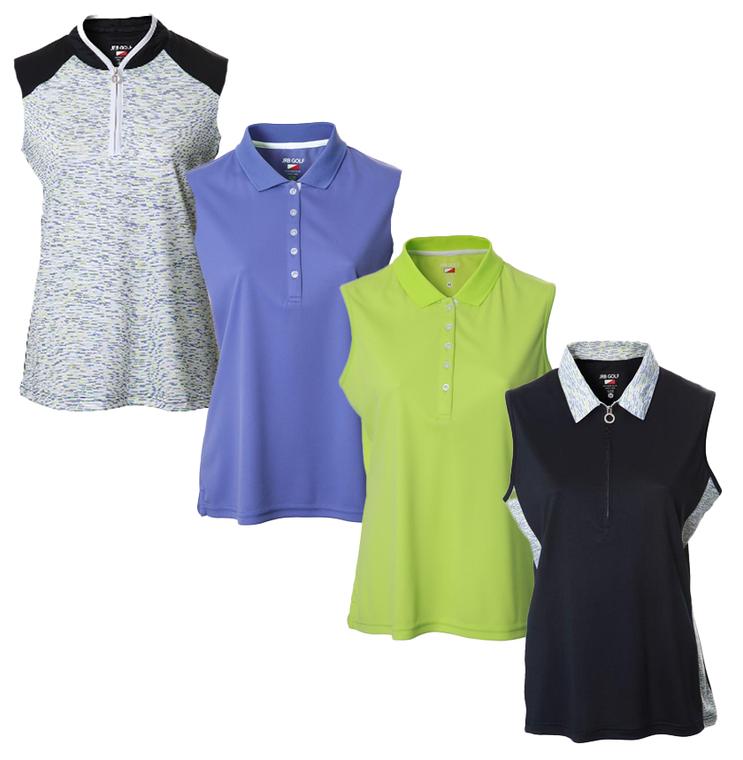 New JRB Ladies Golf Spring 2021 Sleeveless Polo