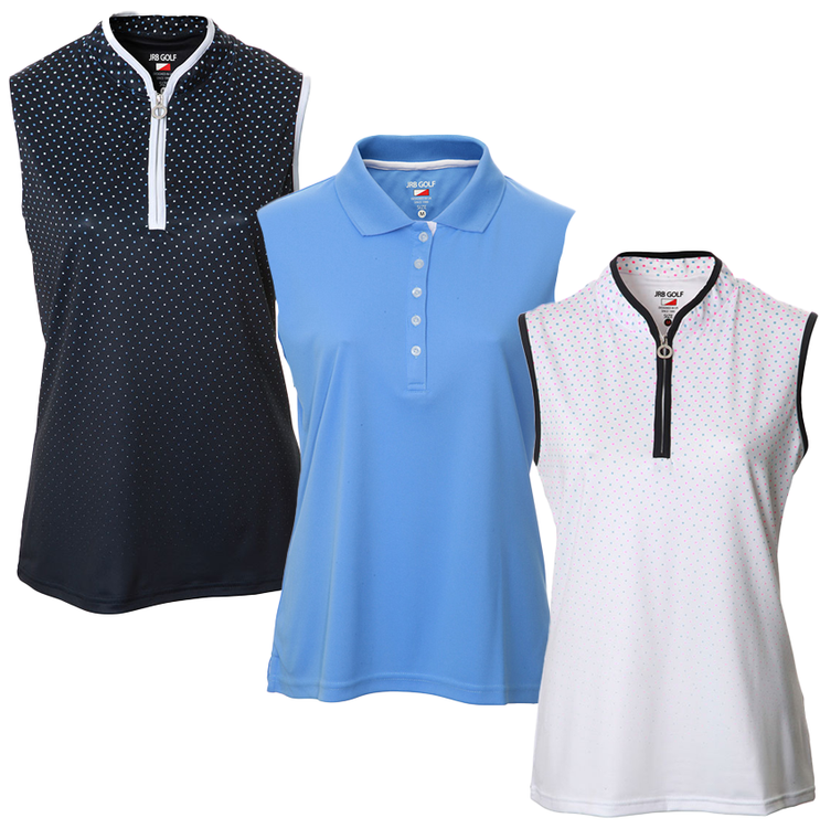New JRB Ladies Golf Summer 2021 Sleeveless Polo