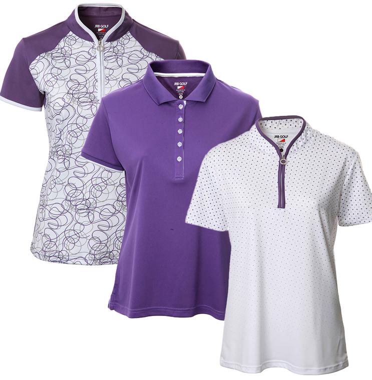 JRB Ladies Short Sleeve Purple Collection