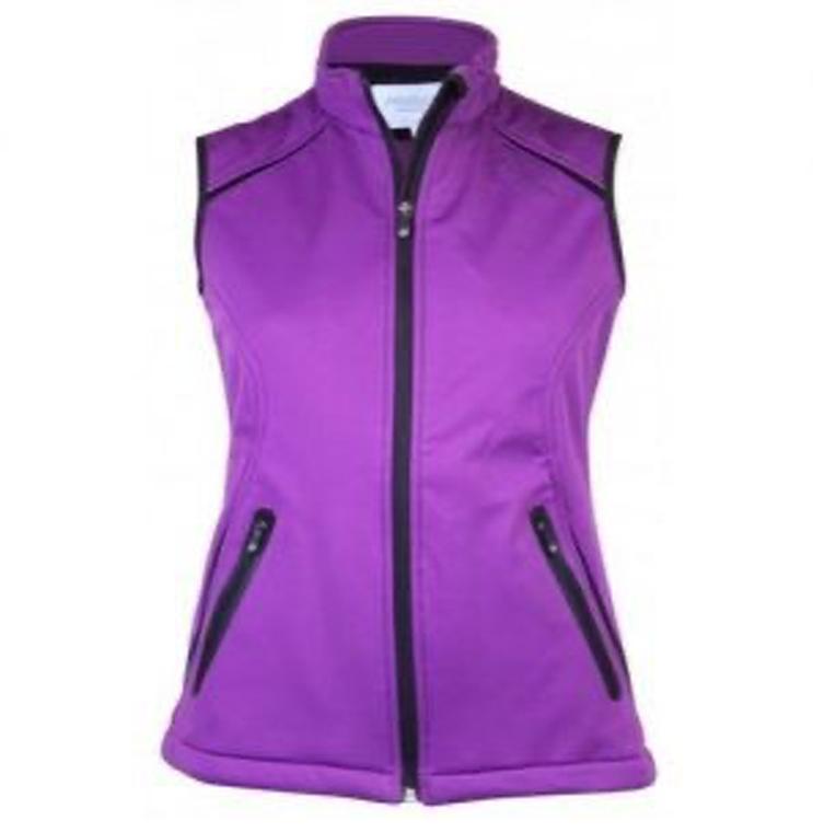 Proquip Katie Soft Shell Ladies Golf Gilet Purple