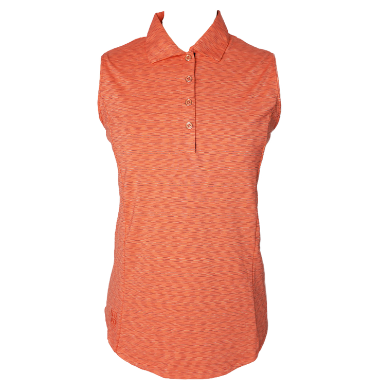 Kate Lord Collection CB05 Sleeveless Coral Polo