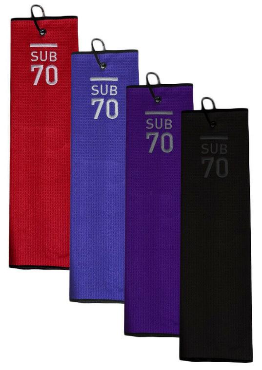 Sub70 Tri-Fold Slim Tour Towel With Clip