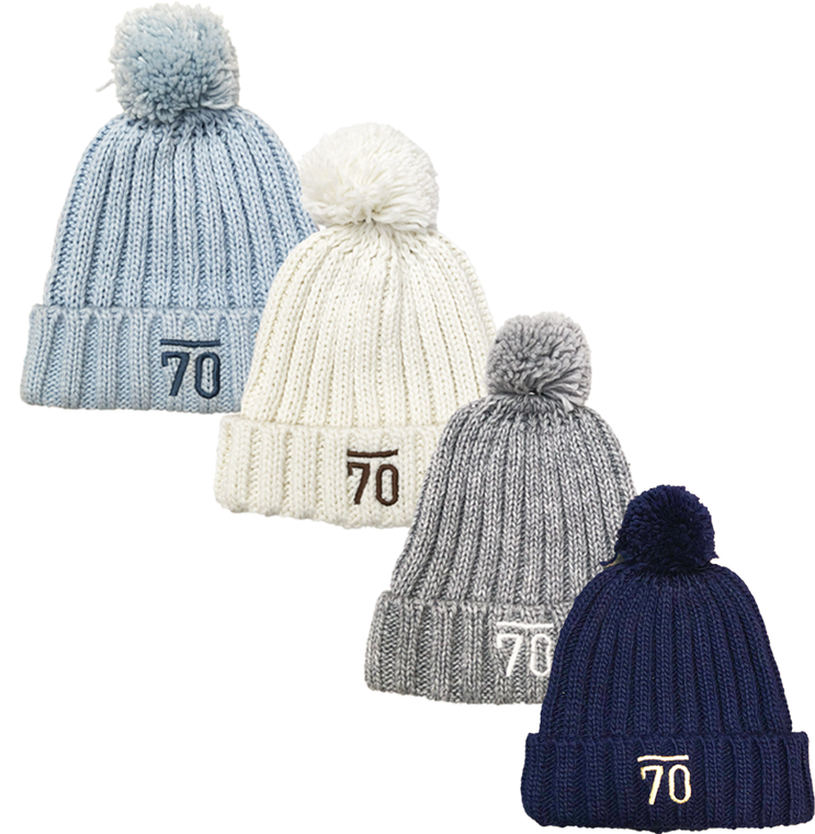 Sub70 Deluxe Ladies Knitted Pom Pom Beanie