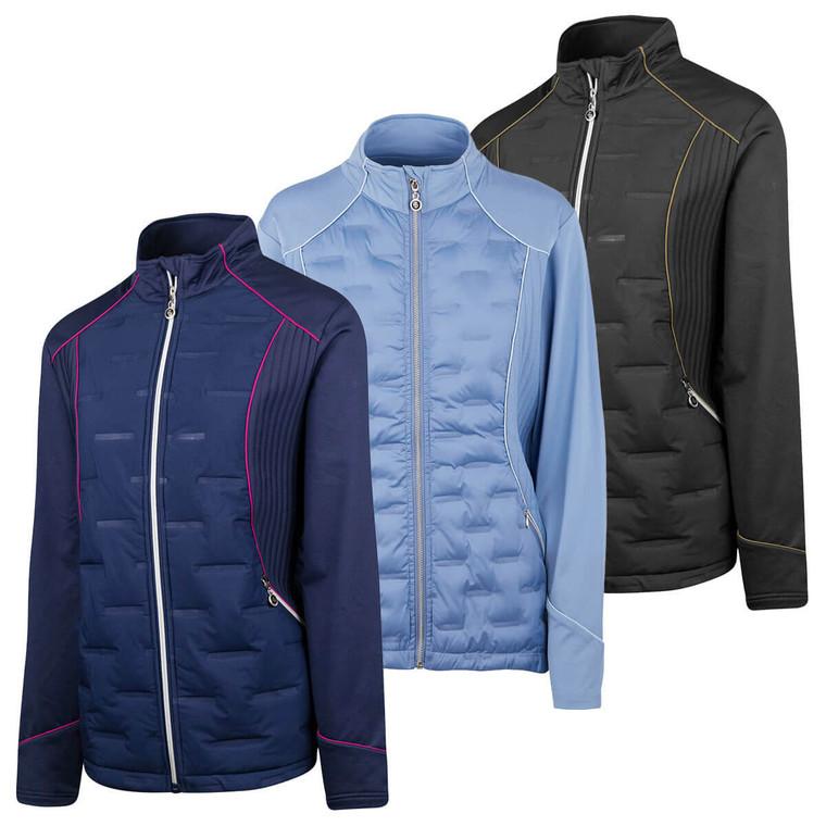 Island Green Womens 2021 Full Zip Padded Thermal Stretch Golf Jacket - IGLJKT2089