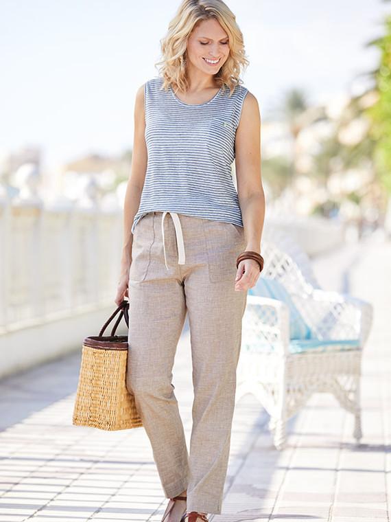 Linen Mix Trousers
