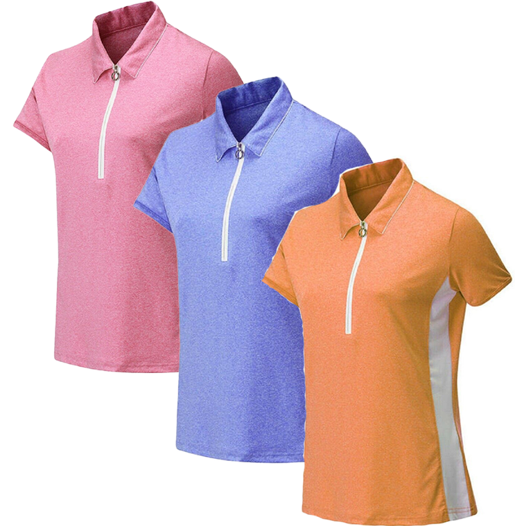 JRB Melange Short Sleeved Golf Shirt