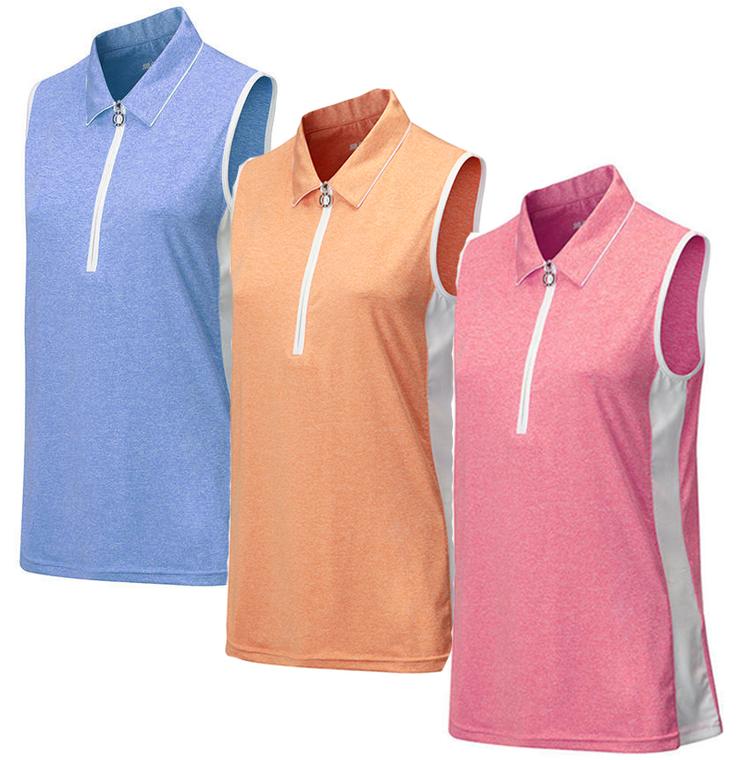 JRB Melange Sleeveless Golf Shirt