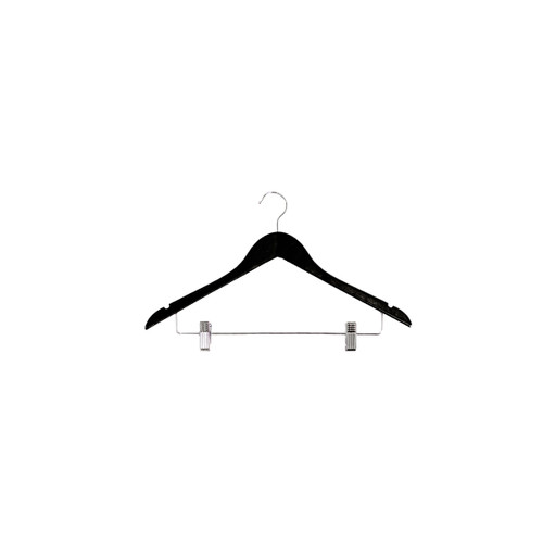 "18 "" Black Wooden Hanger"