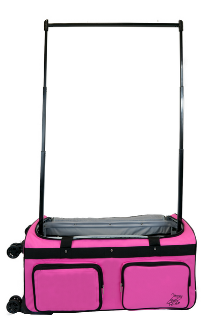 Large Pink 4x Dual Wheel Bag