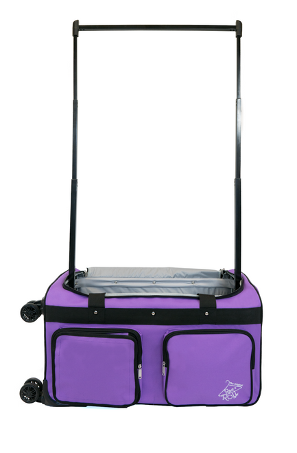 Large Purple 4x Dual Wheel Bag