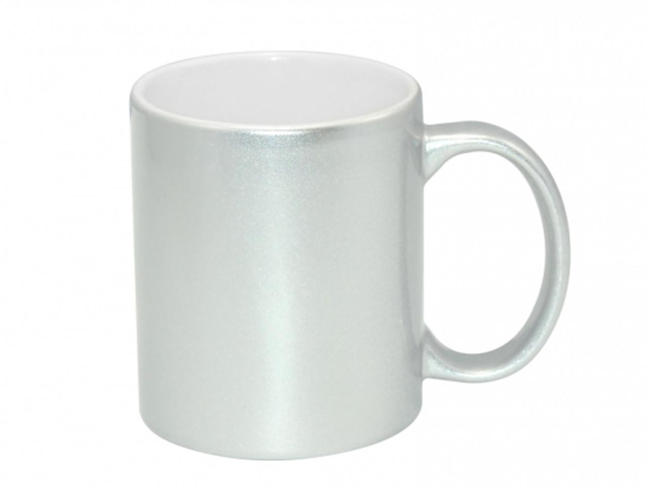 db5df6d3fc5 11oz Premium Metallic Silver Photo Mug for Sublimation - AAA Grade