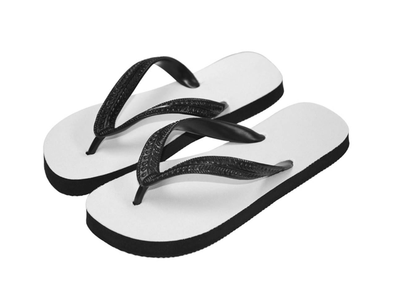 180a1d848 Sublimation Flip Flops with 3 Strap Color Options and Black Base ...