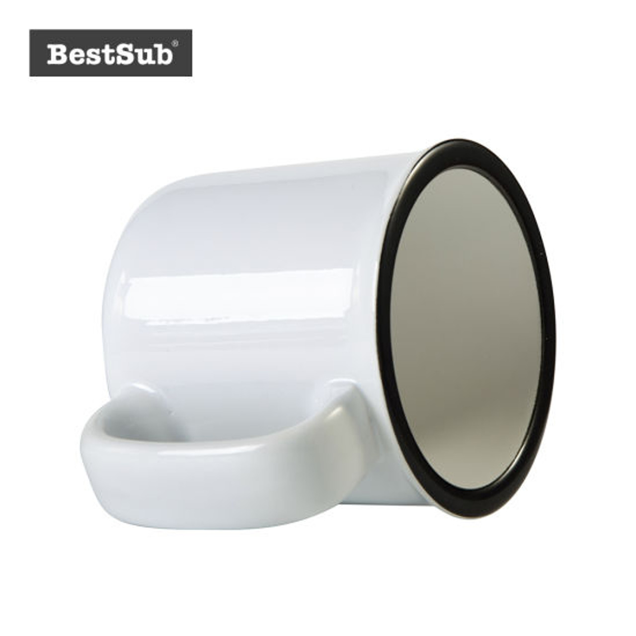 13oz/400ml Ceramic Enamel Mug (White) **WHILE SUPPLIES LAST**