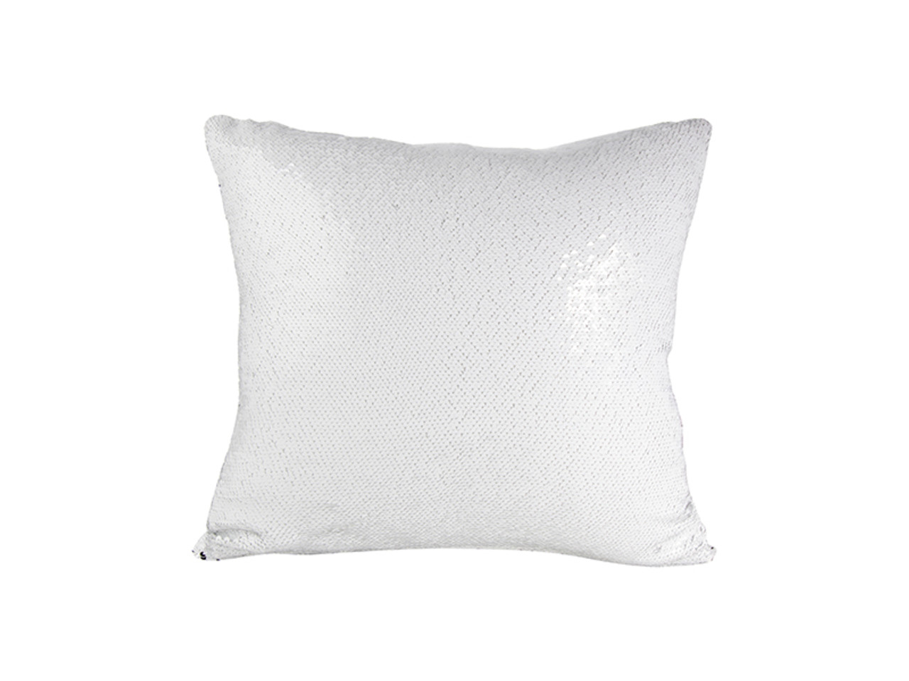 b15f8cc661f Flip Sequin Pillow Cover Silver With White (White Back)