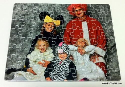 7.5 x 9.5 in 80 Pieces Gloss Cardboard Jigsaw Puzzle