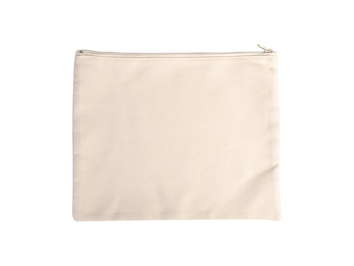 8.75in x 11in Canvas Storage Pouch Bag With Zipper (FFB006)