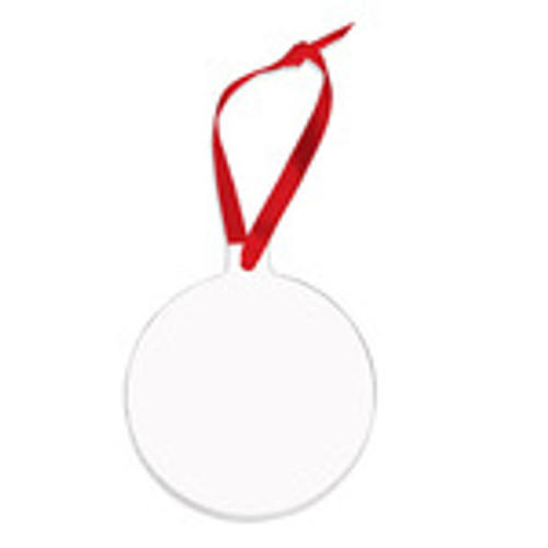 Ornament 3 inch Round Aluminum - Single Sided
