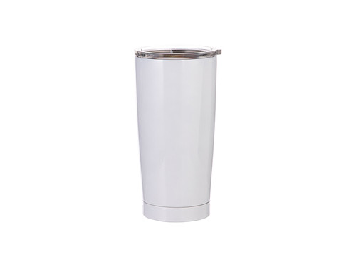 20oz Double Walled Stainless Steel Tumbler with White Coating