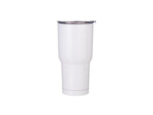 30oz Double Walled Stainless Steel Tumbler with White Coating
