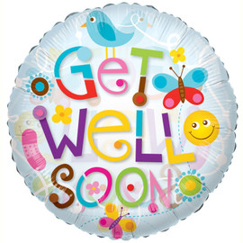 Choose Options Get Well Elements Helium Balloon