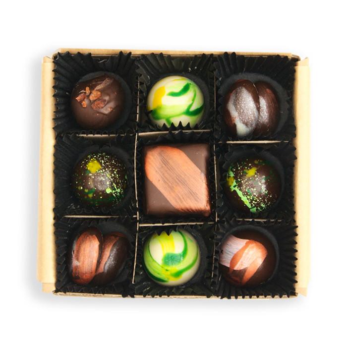 Silkkepott Hand Crafted Chocolates - Box of 9