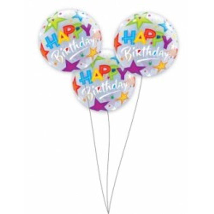 18 Inch Happy Birthday Balloon X3