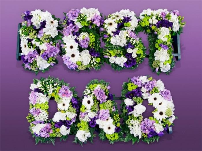 BEST DAD Floral Letters