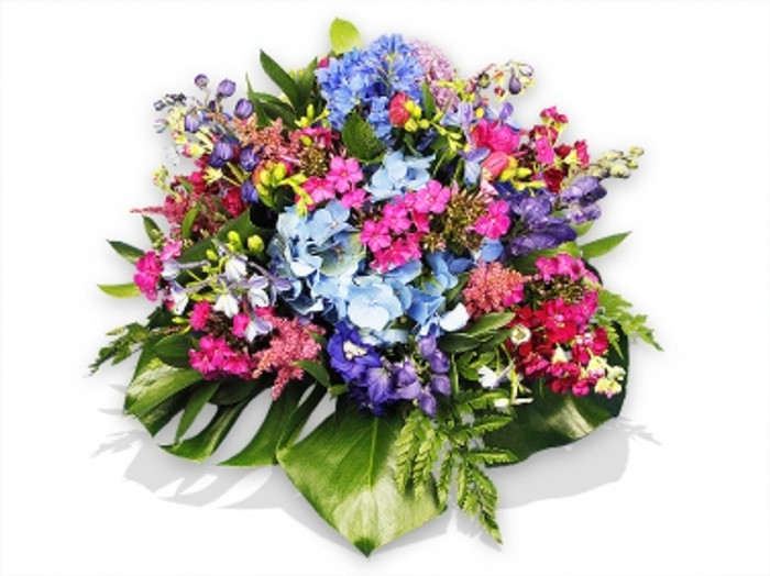 Pink And Blue Flowers Posy Flower Station Florist