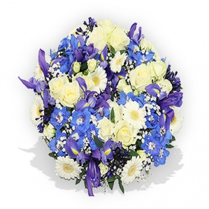 Classic White and Blue Posy