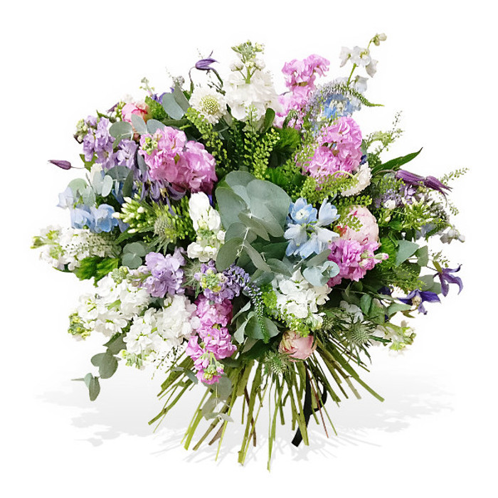 Pink Purple And White Stocks Bouquet Flower Station