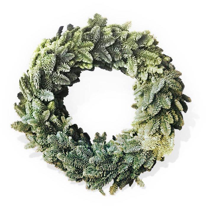 Natural Nordmann Wreath