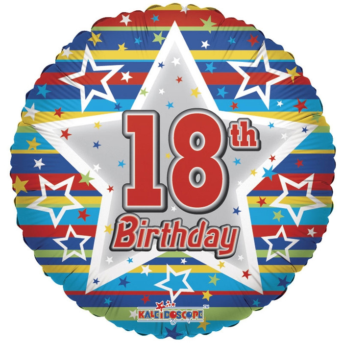 18th birthday helium balloons