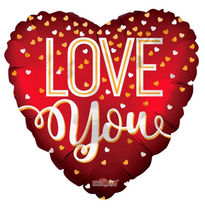 I Love You Red Matt Heart  Balloon (9 inch)