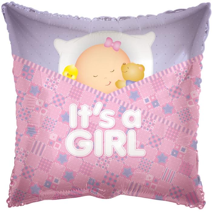 baby girl sleeping balloons
