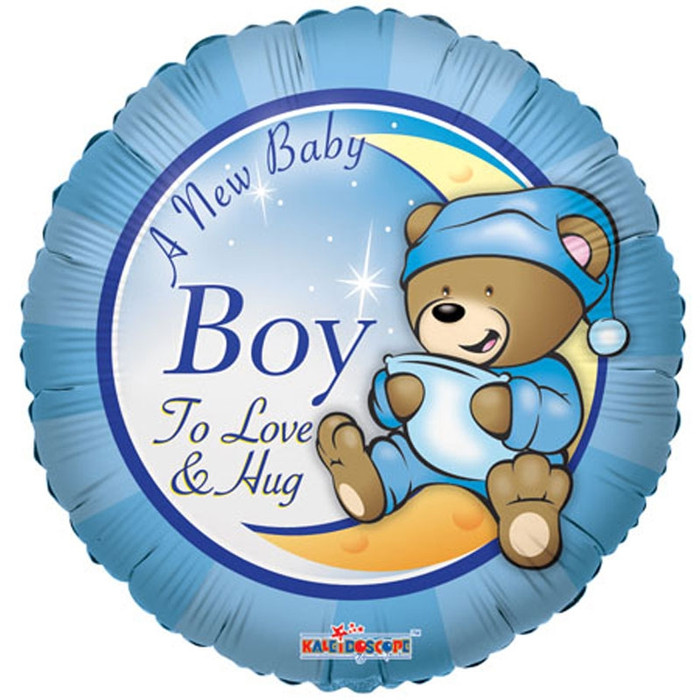 a new baby boy helium balloon