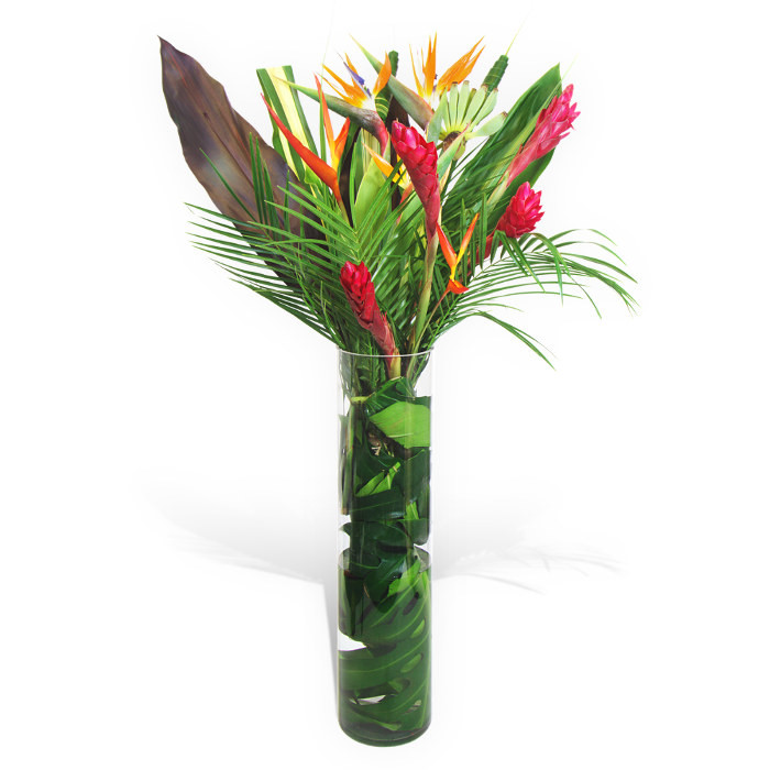 Tropical Flowers In A Vase