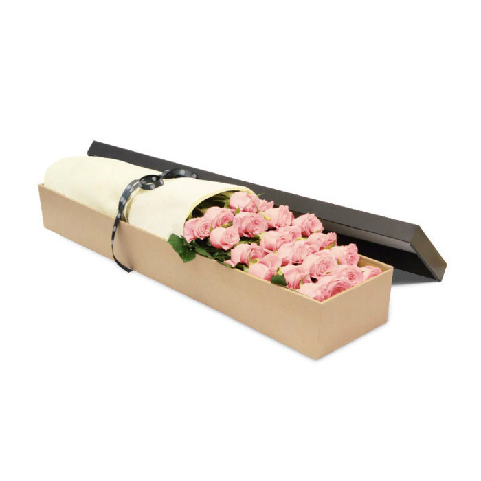 Luxury Pink Roses Gift Box