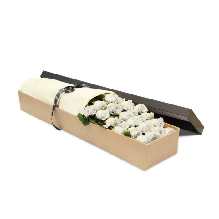 Luxury White Rose Box