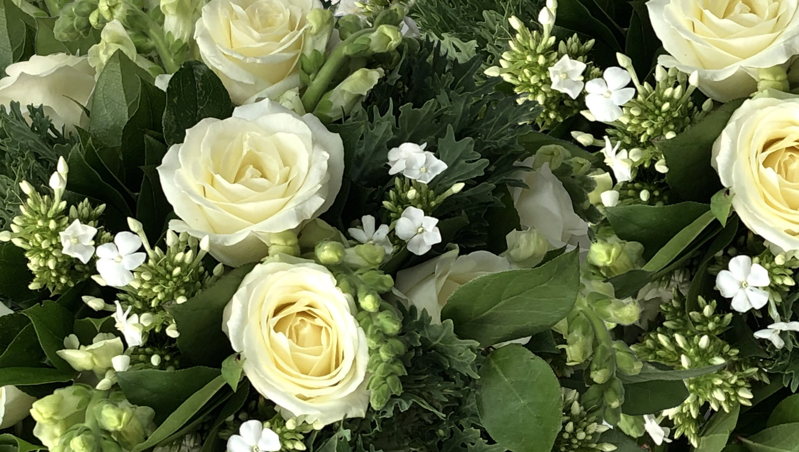 White And Green White And Green Flowers Bouquet Delivery