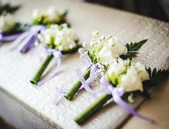 White Roses Buttonholes