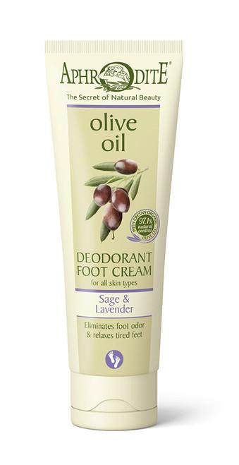 Deodorant Foot Cream with Sage &  Lavender