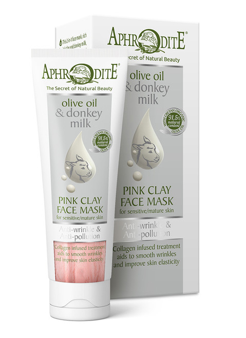 Anti-Wrinkle & Anti-Pollution Pink Clay Face Mask