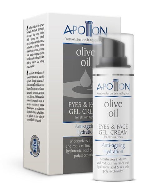 Apollon Men's Anti-ageing Hydration Eye & Face Gel-Cream